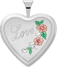 Mujer 1.9cm 0.925 Plata de Ley 2 Foto Esmaltado Corazón Amor Medallón Colgante