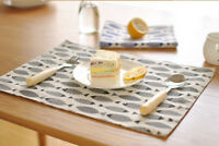 Tapis Table Vaisselle Pads Tissu Napperon Double Isolation Coton Table Mat Nappe