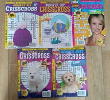 5 X Bumper Just Criss Cross Puzzle Books - Over 490 Puzzles