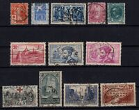 PP135441/ FRANCE STAMPS – YEARS 1914 - 1934 USED SEMI MODERN LOT – CV 190 $