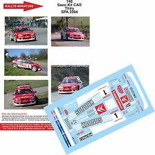 Decals 1/43 réf 746 Citroën Saxo Kit car  Thiry Spa 2004