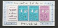 St VINCENT GRENADINES PRUNE ISLAND 1976 BOOKLET PANE 2 FROM $2.50 BOOKLET MNH