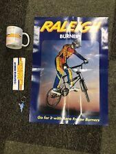 Raleigh Burner BMX Mug Keyring Poster and Sticker Set