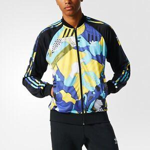 NWT~Adidas MONTAGE AOP Track sweat shirt Jacket superstar top firebird~Mens sz L
