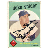 Duke Snider Autographed 1959 Topps Card