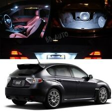 For 08-12 Subaru Impreza AWD STI WRX LED Xenon White Light Bulb Interior Kit