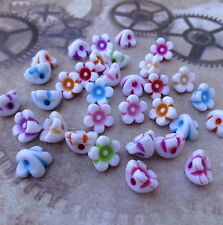 Pack of 100 Acrylic Flower Beads Mix Colour floral beads for jewellery making