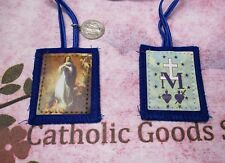 2  inch - Our Lady of Immaculate Conception - Blue Wool Scapular -  NEW
