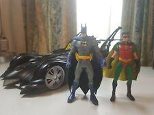Mattel Batmobile [Custom] With Batman and Robin figures