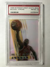1996 Bowman's Best Shots #BS6 MICHAEL JORDAN PSA 8 NM-MT - Chicago BULLS