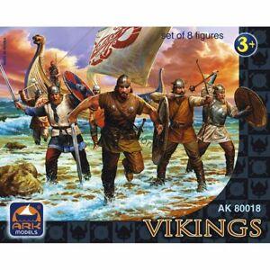 Ark Models AK 80018 Vikings. Set of 8 figures (65-mm)