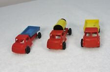 Three Wannatoys trucks:  Cement Mixer and Two Dump Trucks - EX