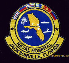 US NAVAL HOSPITAL JACKSONVILLE PATCH PIN UP US NAVY CORPSMAN DOCTOR DOC NURSE
