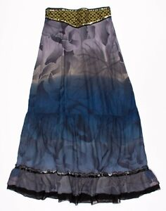 Free People Floral Print Embroidered Maxi Skirt Size M Medium
