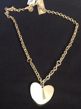 Dolce Vita Flat Heart Pendant Chain Necklace 18k Gold Plated Bronze