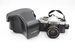 Yashica FX-D Quartz SLR FILM CAMERA w/ Yashica ML 50mm F/1.9 Lens & Case WORKING
