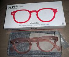 New IZIPIZI LETmeSEE See Concept PINK reading glasses #C +1.5 Casper Shape