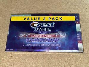 Crest 3D White Whitening Toothpaste Glamorous White 4.1 oz 2 Pack USA RARE