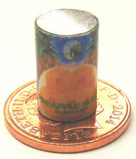 1:12 Scale Empty Pineapple Slices Tin Can Dolls House Food Fruit Accessory O