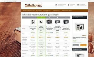 Laufendes Webprojekt mit Affiliate Einnahmen - moebeltresor-tests.de