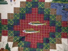 TWIN QUILT Lures Fish FLY fishing Lodge cabin cottage country river lake boat!!