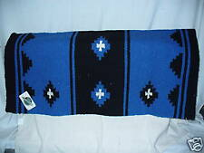 MAYATEX SADDLE BLANKET PAD APACHE WESTERN BLUE AND BLACK HORSE TACK