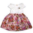 Neuf Filles Fleur Fête robe rose Lilas 12-18M 18-24M 2-3 Ans 3-4 Ans