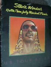 Stevie Wonder's Hotter Than July Musical Picnic Tour Program Book 1980/81