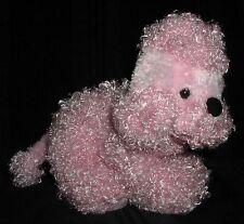 "PINK POODLE DOG PUPPY PLUSH STUFFED ANIMALTOY 10"" GANZ"
