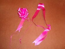 Pink Ribbon Pull Bow Ideal for Wedding Cars, Gift Wrap