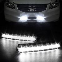 2 x 8 LED Tagfahrlicht KFZ Auto Lampe Tagfahrleuchten Positionslicht Weiß DC 12V