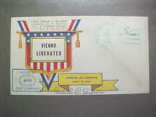U.S. WWII patriotic cover / Vienna Liberated / Teixeira cachet  (#1779)