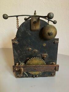 Ancien gros tourne broche mécanique de cheminée