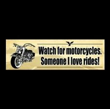 Наклейка на бампер Watch For Motorcycles