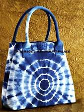 BOHEMIAN SHIBORI SHOULDER BAG TIE DYE HANDBAG TOTE INDIAN INDIGO BLUE TOTE BAG
