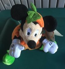 Disney Store Mickey Mouse Halloween Mini Bean Bag Plush 8""