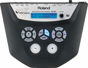 ROLAND TD-6V PERCUSSION SOUND MODULE DRUM MACHINE & POWER SUPPLY 3 6 12 20 25 30