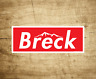 "Ski Breck Colorado Decal Sticker 3.75"" x 1.5"" Skiing Snowboarding Breckenridge"