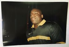 Vintage 90s PHOTO Large Man In Soccer Shirt At Dance Club Bar Nightclub