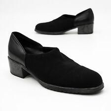 Munro Size 8 Narrow Black Stretch Fabric Pumps Slides Loafers Heels Narrow USA