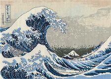 "DMC Counted Cross Stitch Kit From British Museum ""the Great Wave"" Bookmark"