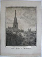Esslingen Neckar ciudad vista dom inkunabel litografía Domenico Quaglio 1818