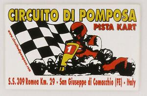 PRL) ADESIVO CIRCUITO DI POMPOSA PISTA KART AUTOCOLLANT STICKER AUFKLEBER RACE
