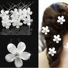 BEST 20PCS WEDDING BRIDAL PEARL FLOWER CRYSTAL HAIRPIN HAIR CLIPS BRIDESMAID