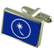 Chuuk (Truk) Sterling Silver Flag Cufflinks
