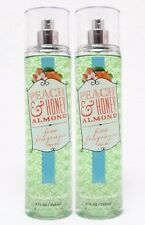 2 Bath & Body Works PEACH & HONEY ALMOND Fragrance Body Mist Spray