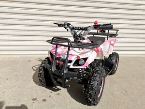 49CC MINI FARM QUAD BIKE ATV BUGGY KIDS 4 WHEELER POCKET PIT DIRT BIKE PINK