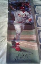 Bradford Plate New W Coa Mark Mcgwire 4 Dif Panorama St Louis Cardinals 70Hr