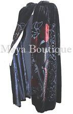 Opera Cape Coat Silk Burnout Velvet Art Nouveau Hooded Lined Maya Cloak
