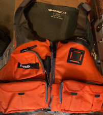 NRS Adult Chinook Fishing Boating PFD L/XL Safety Life Jacket,Orange =